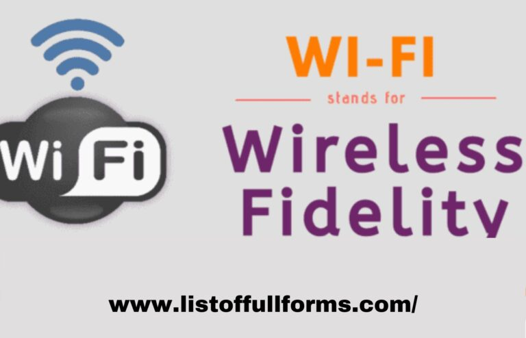wifi full form in computer